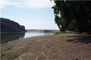 Merging of the Oldman River and Bow River